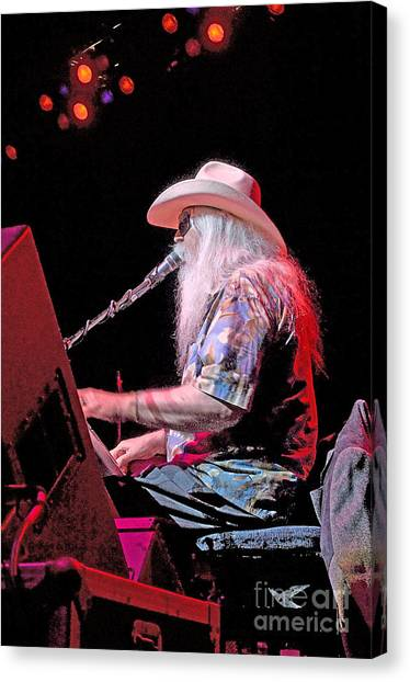 Leon Russell Canvas Print - Man In White by Gib Martinez