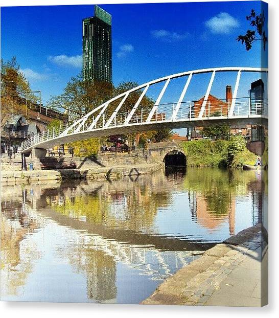 Rivers Canvas Print - Manchester - April; 2012| #manchester by Abdelrahman Alawwad