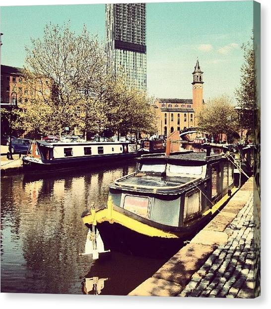 Rivers Canvas Print - #manchester #manchestercanal #canal by Abdelrahman Alawwad