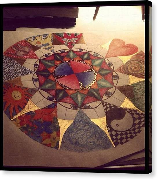 Mandala Canvas Print - #mandala #beauty #notfinished #love by Isabella Costa