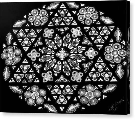 Mandala Of Hope Phase 1 Canvas Print