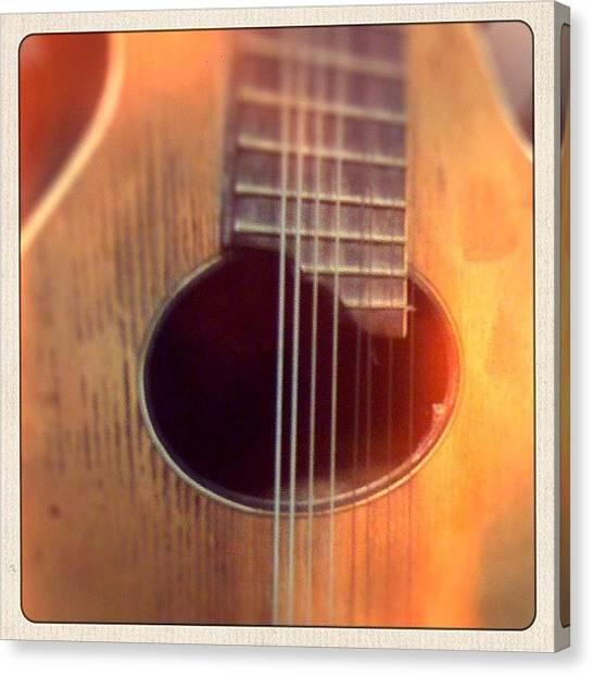 Mandolins Canvas Print - #mandolin #antique #music #instrument by Jeff Reinhardt