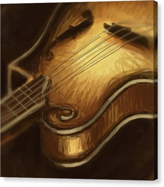 Mandolins Canvas Print - #mandolin #drawing by Jeff Reinhardt