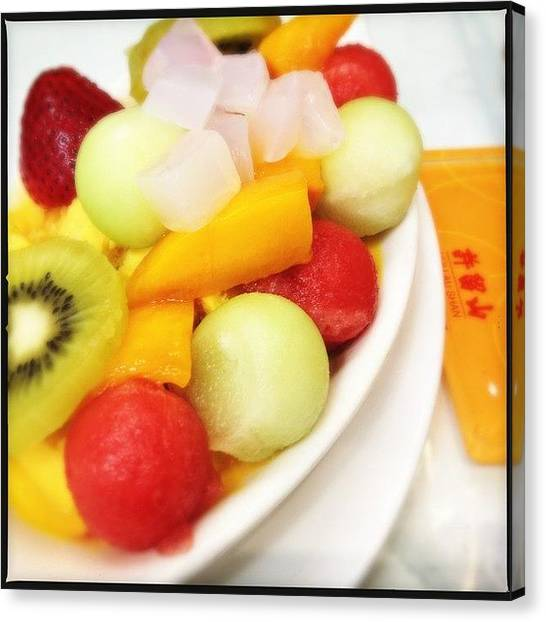 Mangos Canvas Print - Mango Combo #mango #icecream by Wei Zhang
