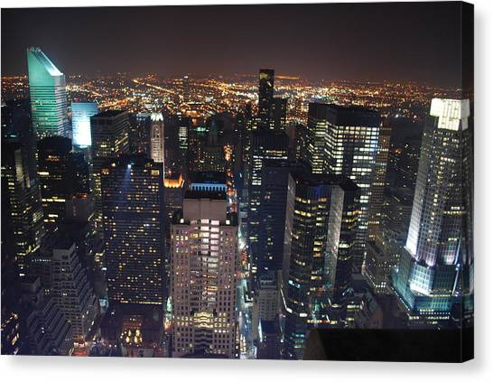 Manhattan Canvas Print by Andy Yoon