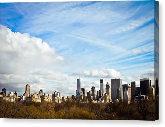Manhattan Behing The Central Park Canvas Print by Ezequiel Rodriguez Baudo