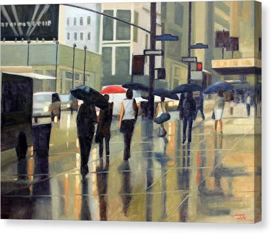 Manhattan Rain Canvas Print