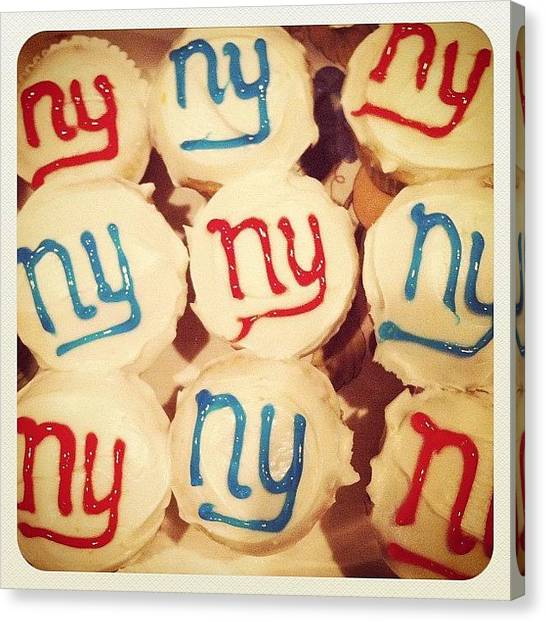 Superbowl Canvas Print - Manly Cupcakes #superbowl by Justin DeRoche