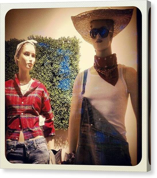 Farmers Canvas Print - Mannequin Fashion by Rabecca Primeau
