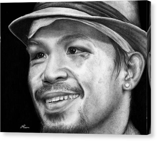 Manny Pacquiao Canvas Print - Manny Pacquiao by Carl Moore