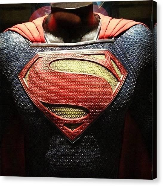 Superhero Canvas Print - #manofsteel #superman #costume by Mahez Kumar Hasija