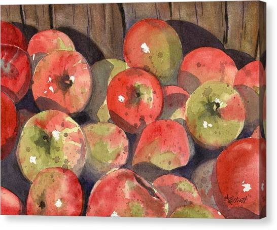 Cider Canvas Print - Manzanas by Marsha Elliott