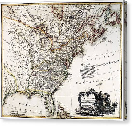 Northwest Territories Canvas Print - Map Of America, 1809 by Granger