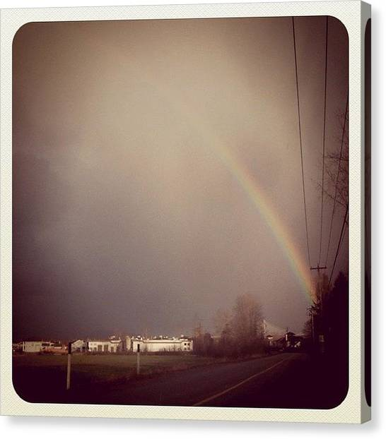 Rainbows Canvas Print - Maple Ridge Rainbow by Tonino Guzzo