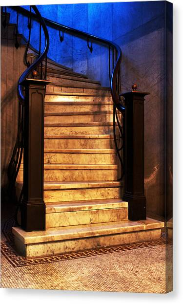 Marble Stairs Canvas Print