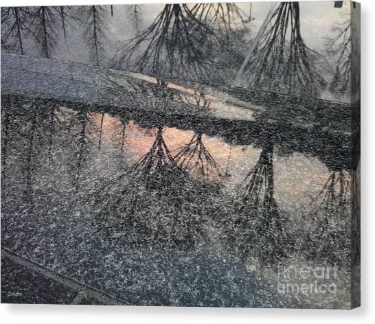 Marble Sunset Canvas Print