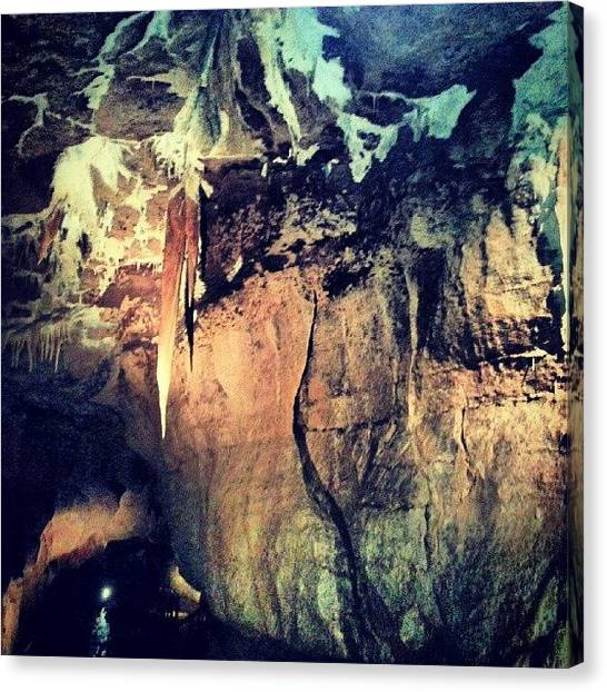 Stalactites Canvas Print - #marblearchgeopark#caves#stalactites by Mary Ohagan
