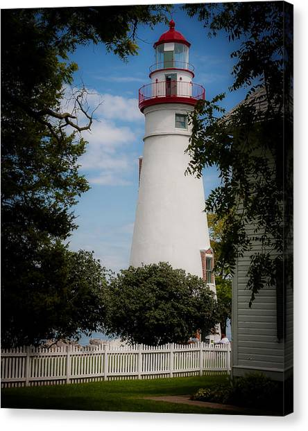Marblehead Lighthouse Afternoon Canvas Print by John Traveler