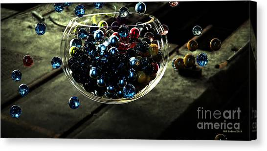 Marbles In A Bowl Canvas Print