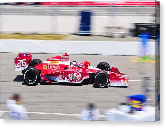Marco Andretti Canvas Print - Marco Andretti At Toronto Indy by Jarvis Chau