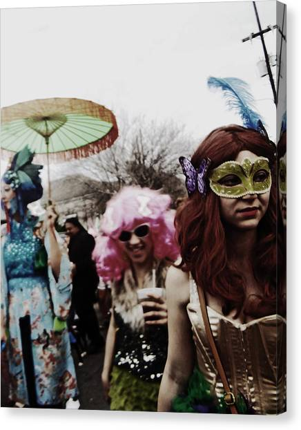 Mardi Gras Day In New Orleans Canvas Print