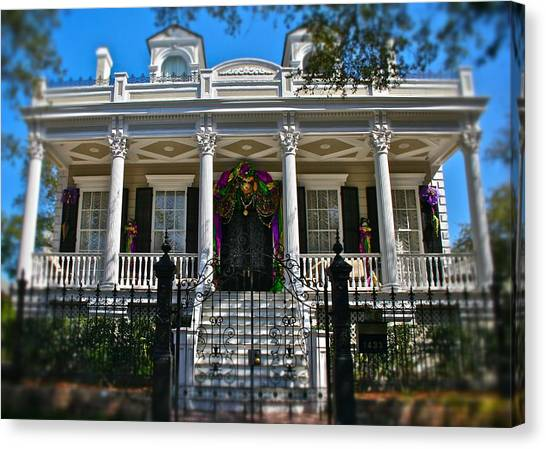 Mardi Gras House Canvas Print