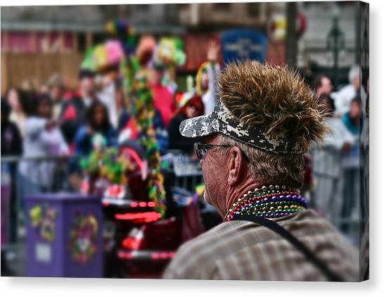 Mardi Gras Man Canvas Print