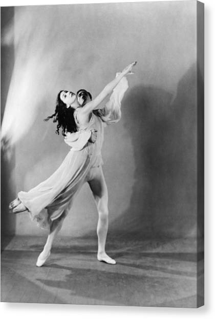 Margot Fonteyn 1919-1991 And Michael Canvas Print by Everett