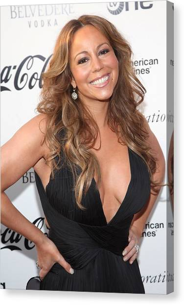 Apollo Theater Canvas Print - Mariah Carey At Arrivals For Apollo by Everett