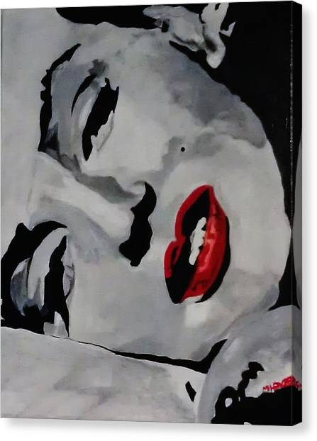 Marilyn Canvas Print by Michael Henzel