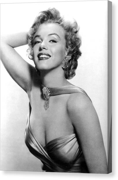 Marilyn Monroe, Circa 1950s Canvas Print by Everett