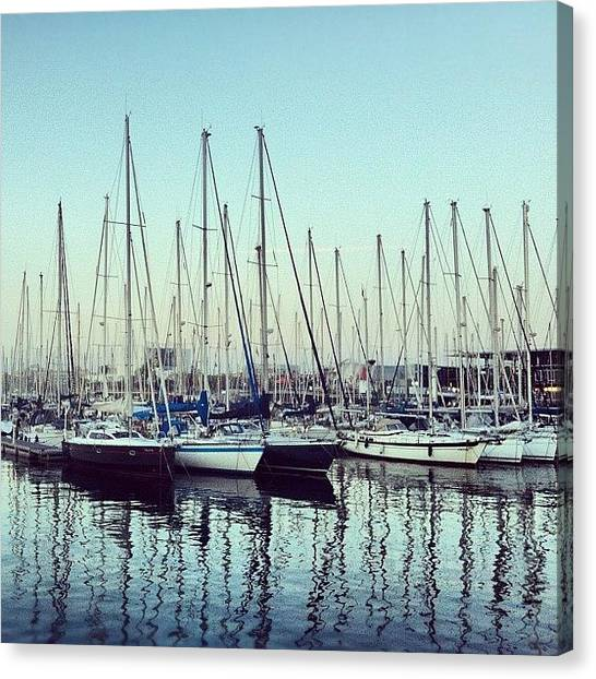 Sailboats Canvas Print - Marina Bcn by Marce HH