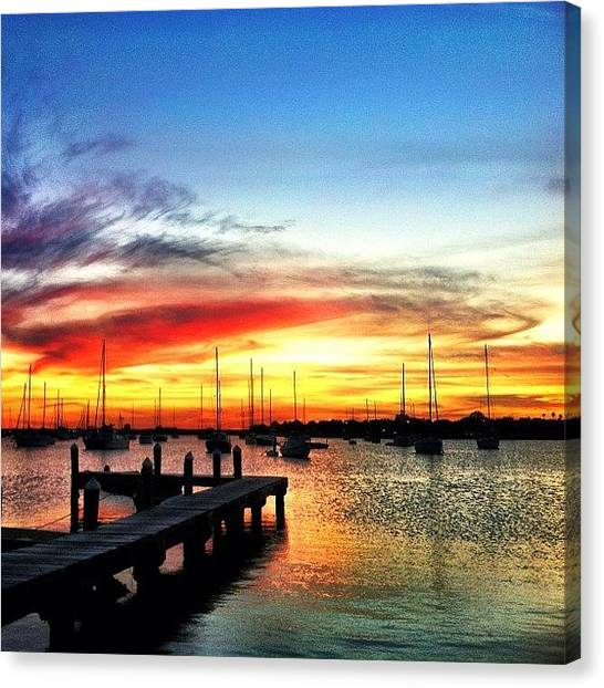 Sailboats Canvas Print - Marina by Dylan Hotfire
