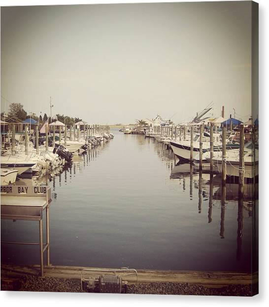 Harbors Canvas Print - Marina by Kayla Mitchell