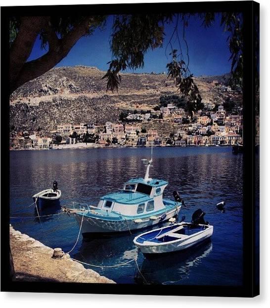 Yachts Canvas Print - #marina#yacht#sail#fish by Glusia I