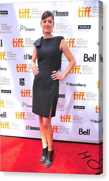 Toronto International Film Festival Tiff Canvas Print - Marion Cotillard Wearing A Lefranc by Everett