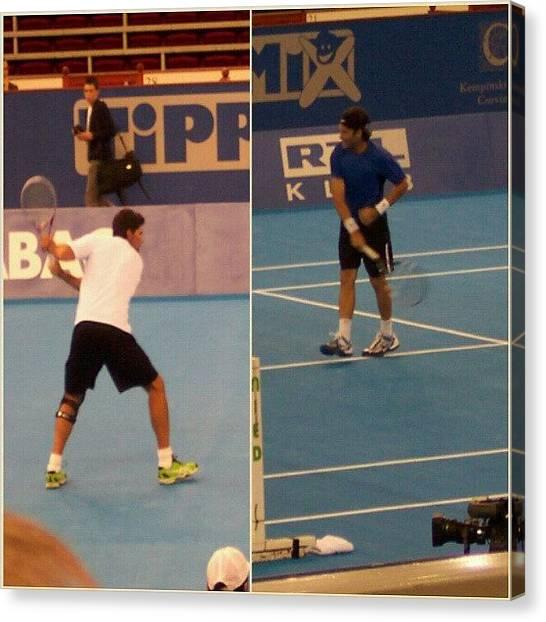 Tennis Canvas Print - Mark Philippoussis és Carlos Moya by Tibor Kiraly