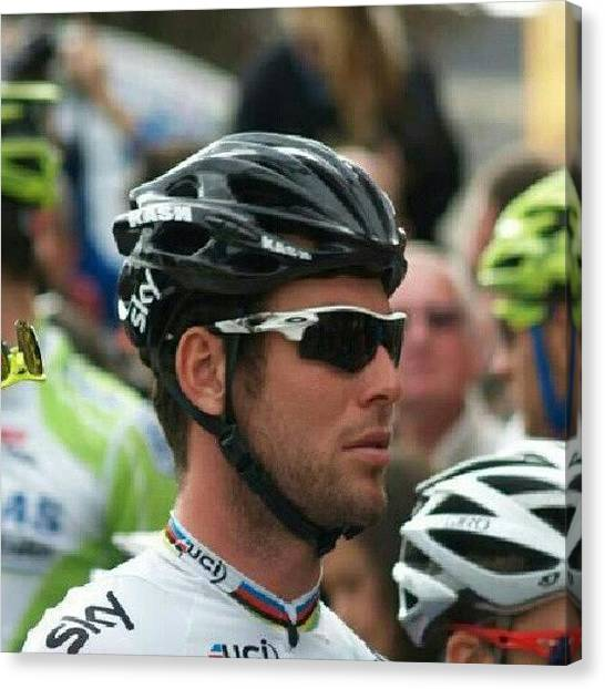 Athlete Canvas Print - #markcavendish #cav At The Start Of by Robin Beer