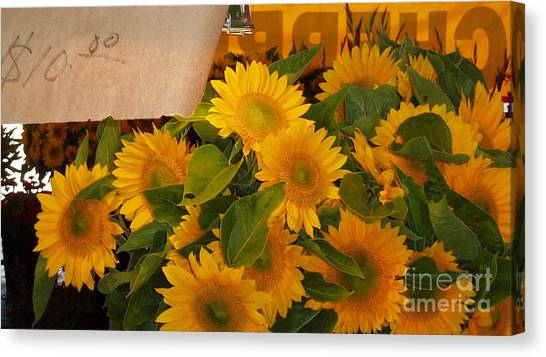 Market Flowers Canvas Print