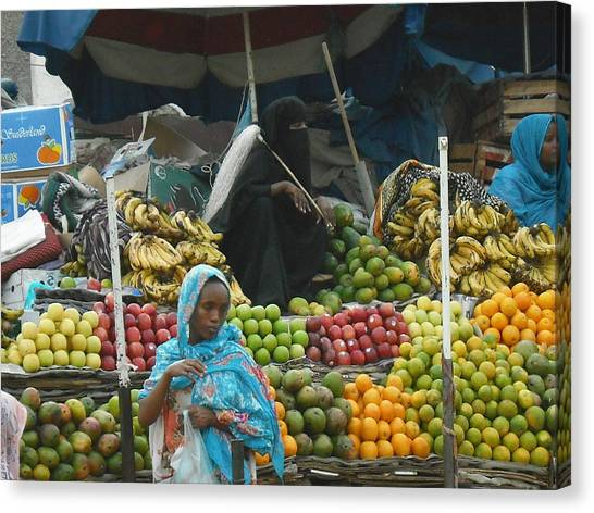 Market Of Djibuti-2 Canvas Print by Jenny Senra Pampin