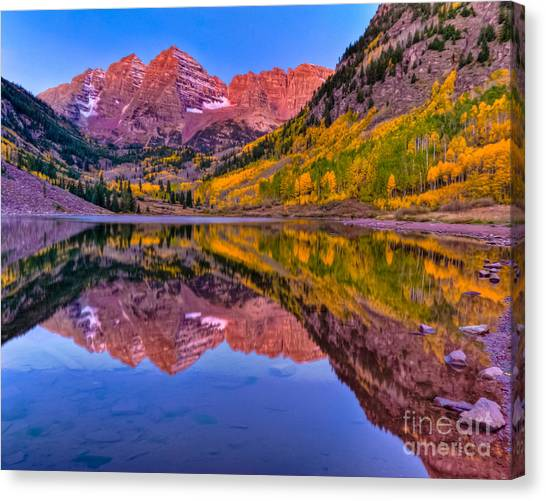 Maroon Bells Fall Reflection Canvas Print
