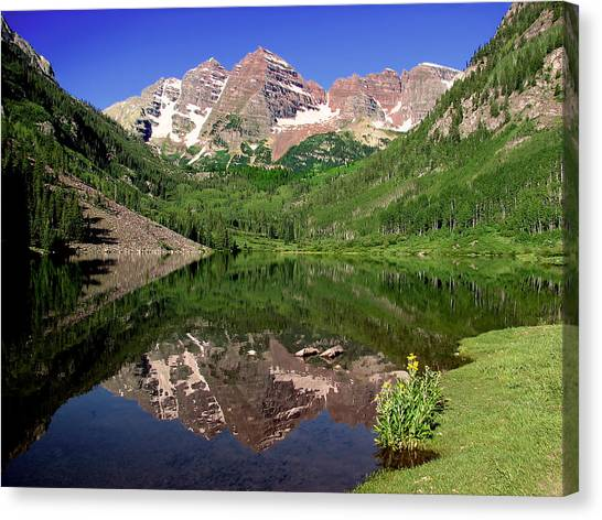 Maroon Bells Shoreline Canvas Print