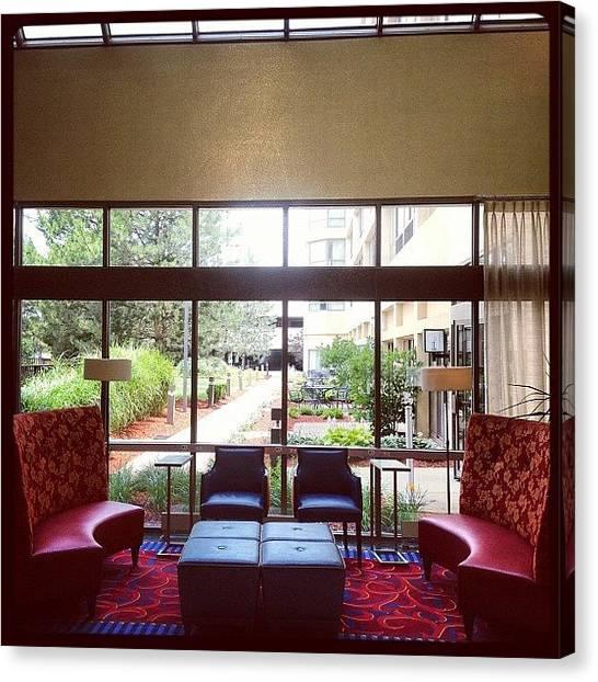 Lounge Canvas Print - Marriott Hotel Foyer by Elroy Byam