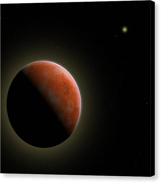 Mars - The Red Planet Canvas Print