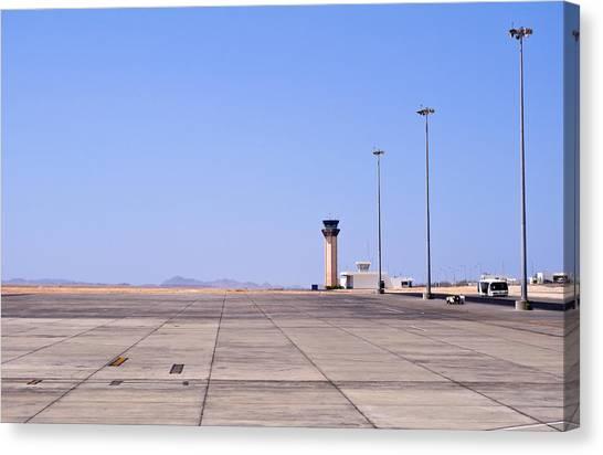 Air Traffic Control Canvas Print - Marsa Alam Airport. Egypt. by Fernando Barozza