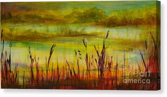 Marsh View Canvas Print by Sandra Taylor-Hedges