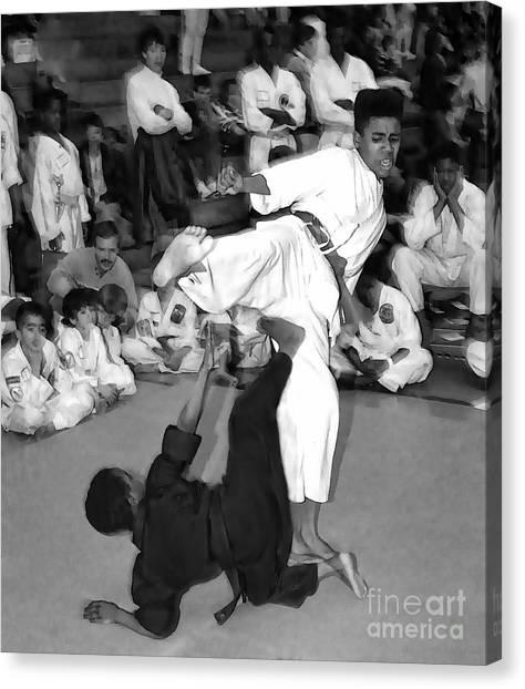 Taekwondo Canvas Print - Martial Arts I by Jeff Breiman