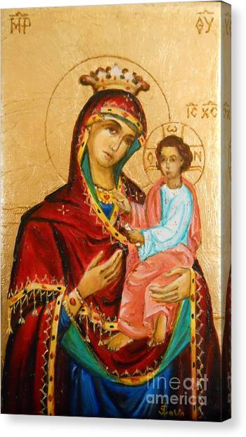 Mary With Jessus R.3 Canvas Print