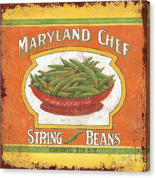 Maryland Canvas Print - Maryland Chef Beans by Debbie DeWitt