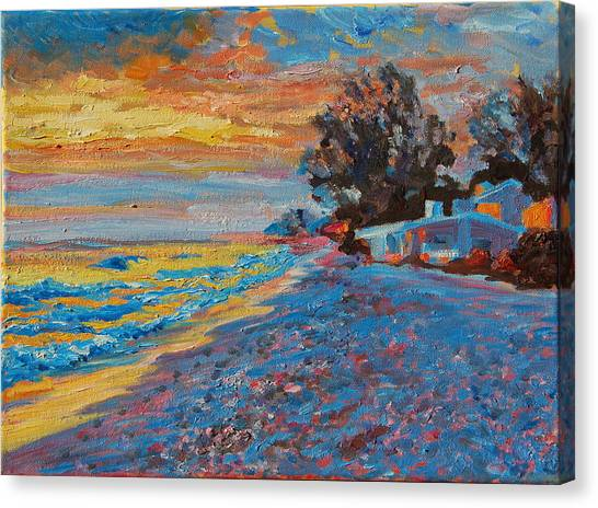 Masasota Key Sunset Canvas Print